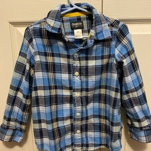 OSHKosh 4T plaid button down